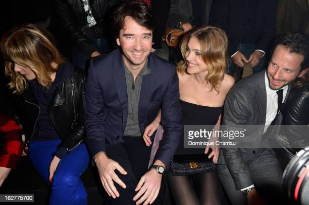 Antoine Arnault and Natalia Vodianova attend the Etam Live Show Lingerie at Bourse du Commerce on February 26 2013 in Paris France