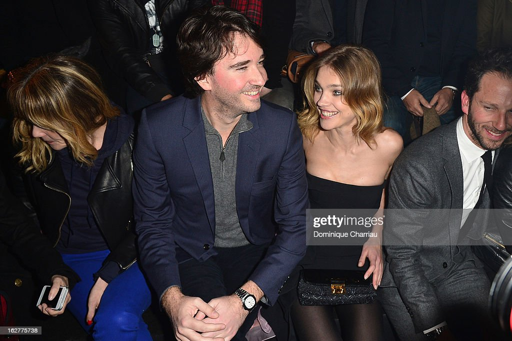 Antoine Arnault and Natalia Vodianova attend the Etam Live Show Lingerie at Bourse du Commerce on February 26, 2013 in Paris, France.