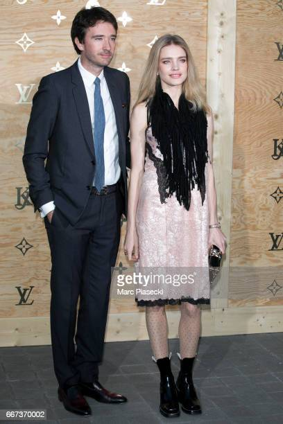 Antoine Arnault and Natalia Vodianova attend the 'Louis Vuitton Masters a collaboration with Jeff Koons' dinner at Musee du Louvre on April 11 2017...