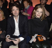 Antoine Arnault and Natalia Vodianova attend the Louis Vuitton show as part of the Paris Fashion Week Womenswear Fall/Winter 20142015 on March 5 2014...