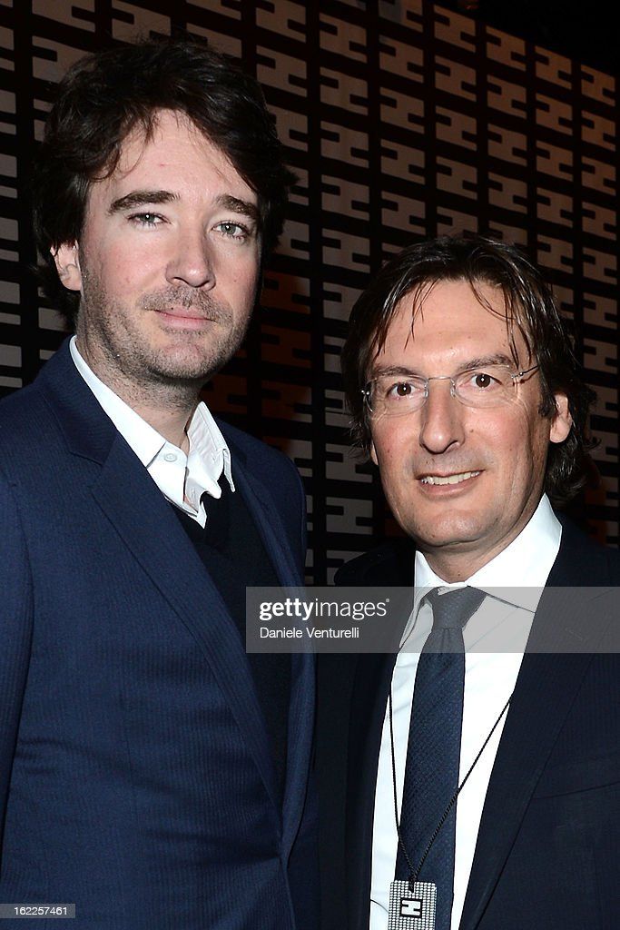 Antoine Arnault and Pietro Beccari attend the Fendi fashion show as part of Milan Fashion Week Womenswear Fall/Winter 2013/14 on February 21, 2013 in Milan, Italy.