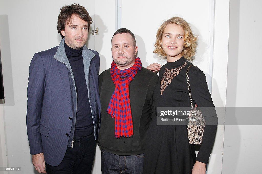 Antoine Arnault, Kim Jones and Natalia Vodianova attend the Louis Vuitton Men Autumn / Winter 2013 show as part of Paris Fashion Week on January 17, 2013 in Paris, France.