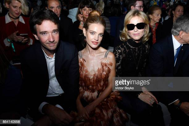 Antoine Arnault Natalia Vodianova and Eva Herzigova attend the Christian Dior show as part of the Paris Fashion Week Womenswear Spring/Summer 2018 on...