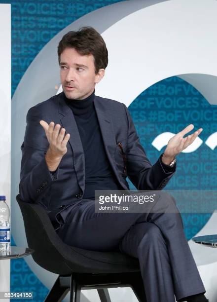 Antoine Arnault speaks on stage during #BoFVOICES on December 1 2017 in Oxfordshire England