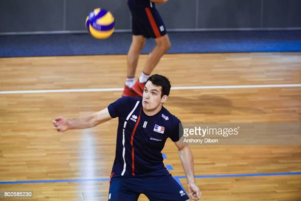 Antoine Brizard of France during a training session of the French volleyball national team on June 28 2017 in Vincennes France
