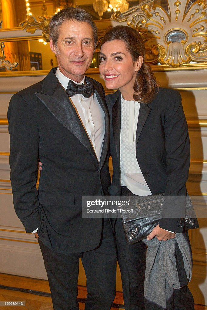 Antoine de Caunes (L) and Daphne Roulier attend the GQ Men of the year awards 2012 at Musee d'Orsay on January 16, 2013 in Paris, France.