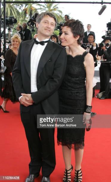 Antoine de Caunes and Daphne Roulier during 2006 Cannes Film Festival 'Selon Charlie' Premiere at Palais du Festival in Cannes France