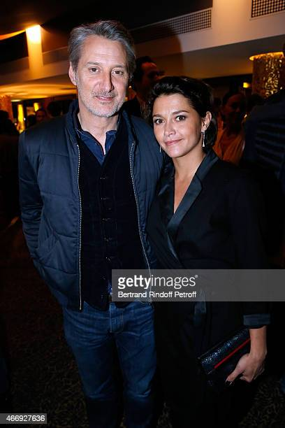 Antoine de Caunes and his daughter actress Emma de Caunes attend the Cocktail for the Cinema Award 2015 of Foundation Diane Lucien Barriere given to...
