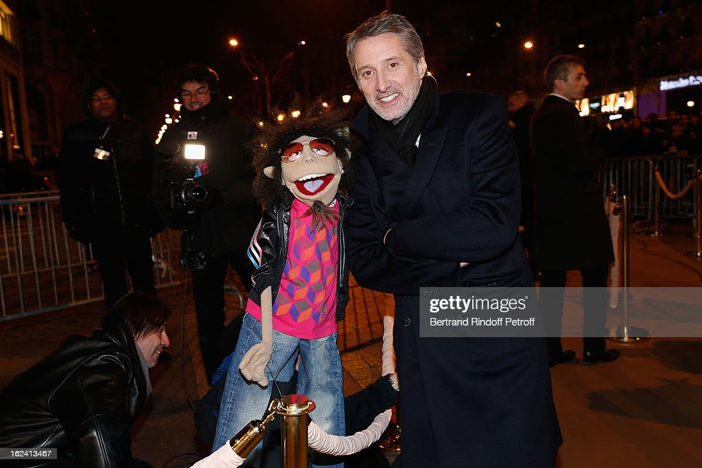 <a gi-track='captionPersonalityLinkClicked' href=/galleries/search?phrase=Antoine+de+Caunes&family=editorial&specificpeople=613114 ng-click='$event.stopPropagation()'>Antoine de Caunes</a> attends the Cesar Film Awards 2013 at Le Fouquet's on February 22, 2013 in Paris, France.