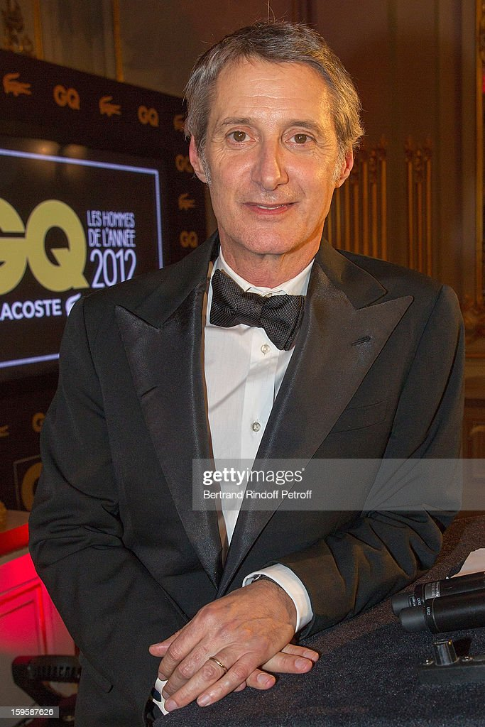 Antoine de Caunes attends the GQ Men of the year awards 2012 at Musee d'Orsay on January 16, 2013 in Paris, France.