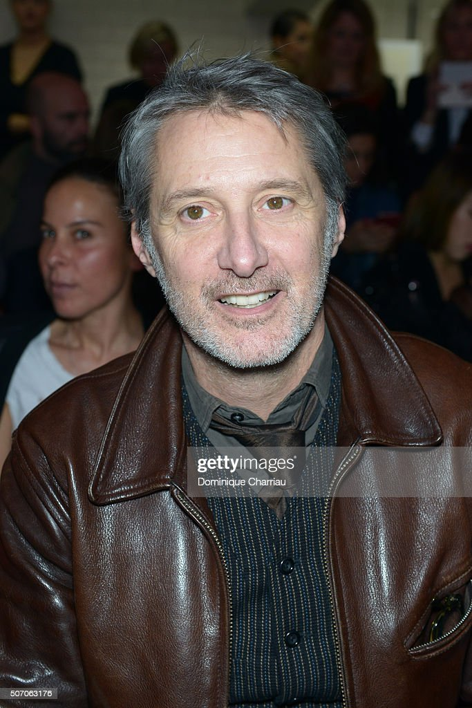 Antoine de Caunes attends the Jean-Paul Gaultier Haute Couture Spring Summer 2016 show as part of Paris Fashion Week on January 27, 2016 in Paris, France.