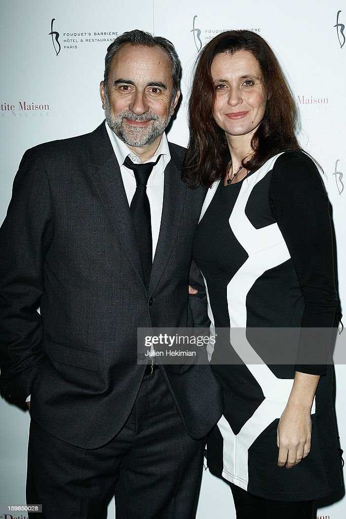 Antoine Dulery and his wife attend 'La Petite Maison De Nicole' Inauguration Photocall at Hotel Fouquet's Barriere on January 21, 2013 in Paris, France.