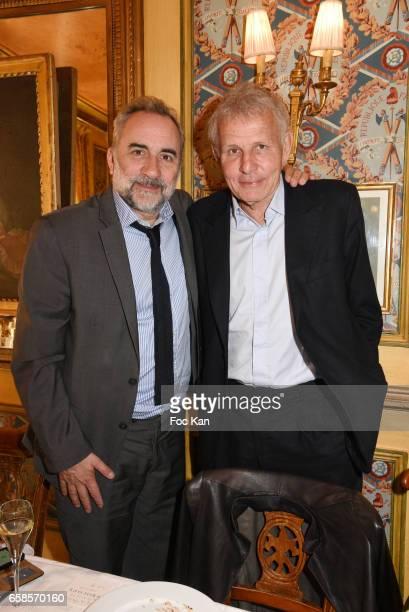Antoine Dulery and Patrick Poivre d'Arvor attend 'Journees du Livre et du Vin 2017' Jury Deliberation Lunch at Le Procope on March 27 2017 in Paris...