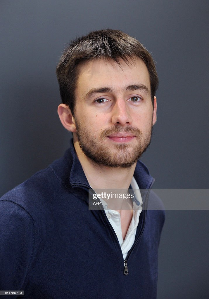 Antoine Durieux, CEO of 'Chef Jerome' poses in Paris on February 7, 2013. Antoine Durieux, 24, left his studies at Polytechnique and Stanford without regret, to launch his own start-up culinary advertising online, Chef Jerome.