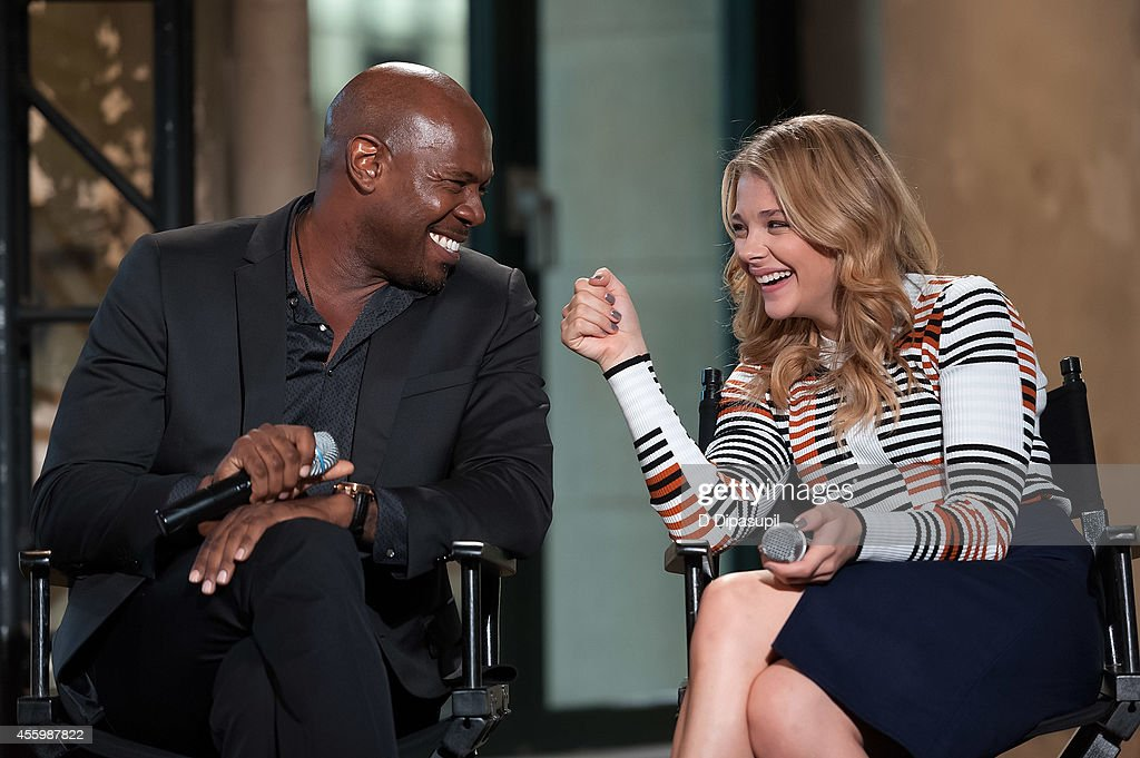 Antoine Fuqua and Chloe Grace Moretz attend AOL's BUILD Speaker Series 'The Equalizer' at AOL Studios In New York on September 23 2014 in New York...