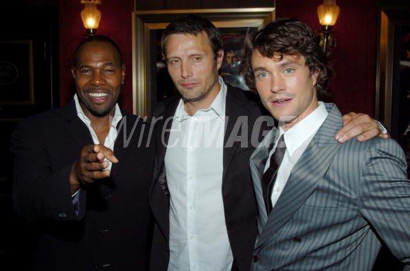 Antoine Fuqua Mads Mikkelsen and Hugh Dancy during King ...