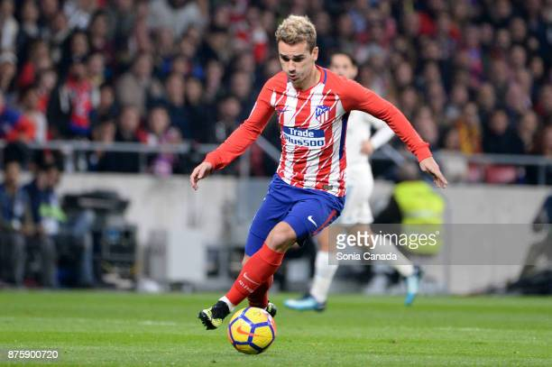 Antoine Griezmann #7 of Atletico de Madrid during The La Liga match between Club Atletico Madrid v Real Madrid at Wanda Metropolitano on November 18...