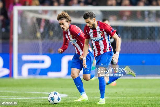 Antoine Griezmann and Yannick Ferreira Carrasco of Atletico de Madrid in action during their 201617 UEFA Champions League Round of 16 second leg...