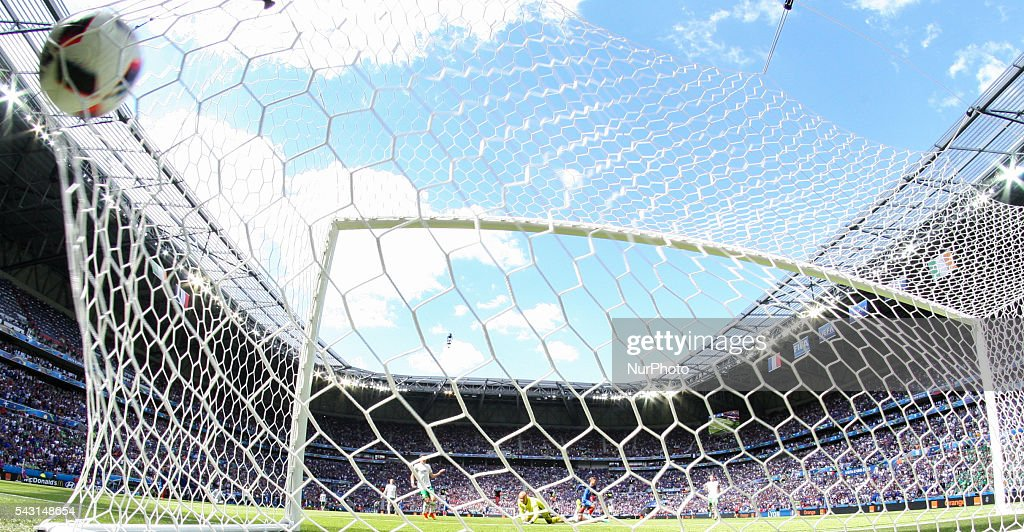 Antoine Griezmann (FRA), goal, during the UEFA EURO 2016 round of 16 match between France and Republic of Ireland at Stade des Lumieres on June 26, 2016 in Lyon, France.
