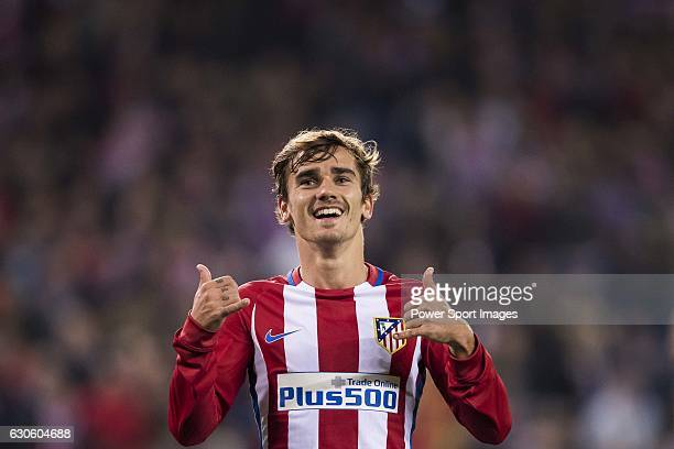 Antoine Griezmann of Atletico de Madrid celebrates during their 201617 UEFA Champions League match between Atletico Madrid and FC Rostov at the...
