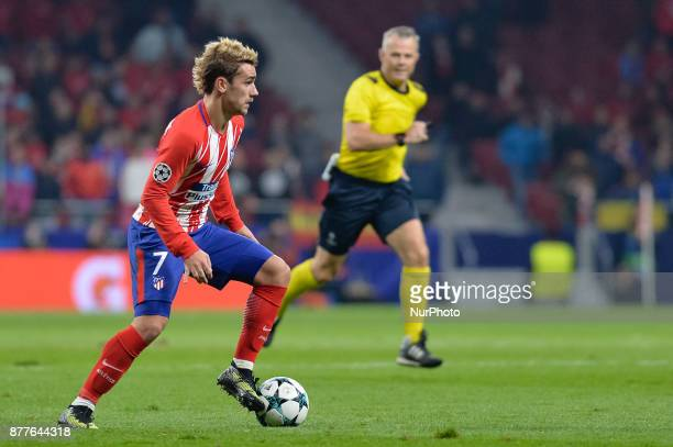 Antoine Griezmann of Atletico de Madrid during the UEFA Champions League group C match between Atletico Madrid and AS Roma at Estadio Wanda...