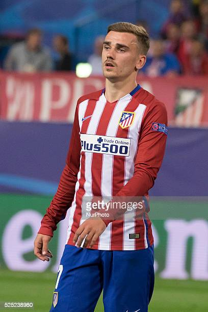 antoine griezmann of Atletico de Madrid during the UEFA Champions League semi final first leg match between Club Atletico de Madrid and FC Bayern...