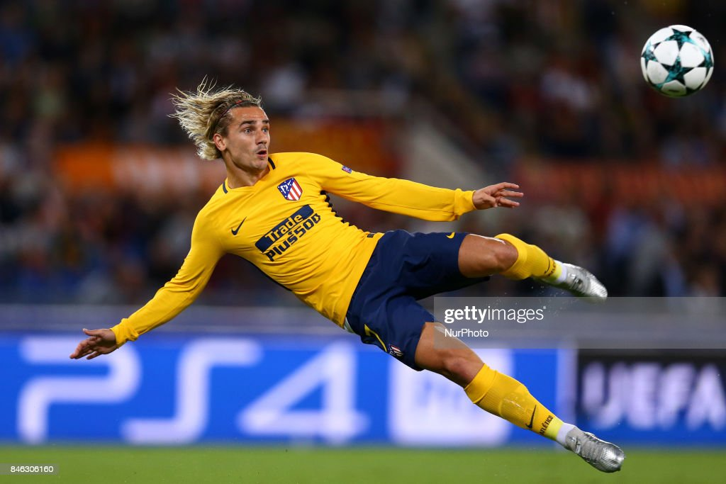 Antoine Griezmann of Atletico during the UEFA Champions League Group C football match between AS Roma and Atletico Madrid on September 12, 2017 at the Olympic stadium in Rome, Italy.