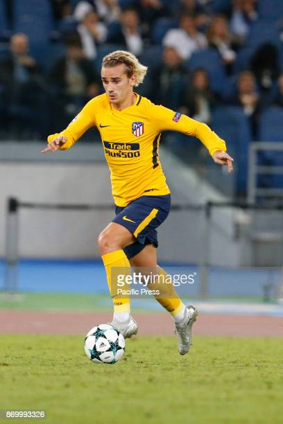 Antoine Griezmann of Atletico Madrid during the UEFA Champions League Group C soccer match against Roma in Rome The match ended in a 00 draw