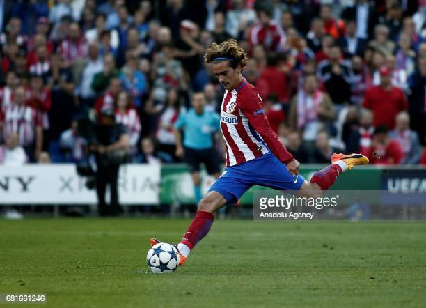 Antoine Griezmann of Atletico Madrid in action during the UEFA Champions League semi final second leg match between Atletico Madrid and Real Madrid...
