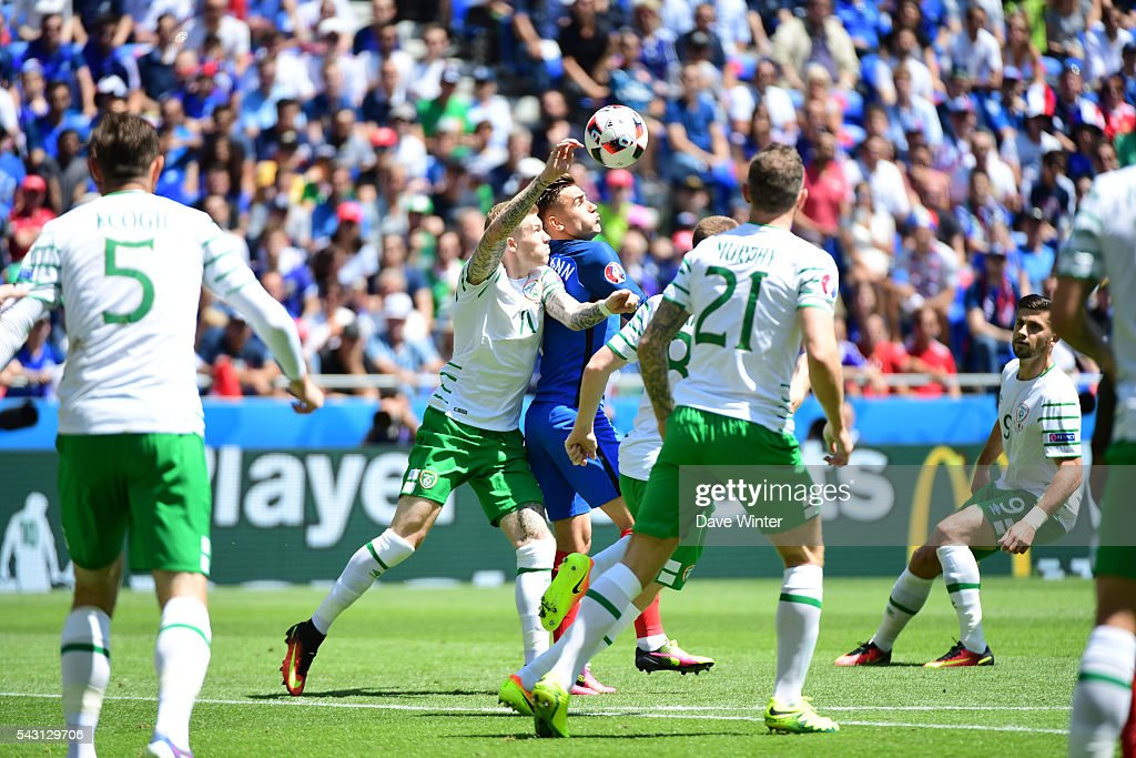 Antoine Griezmann of France before the European Championship match Round of 16 between France and Republic of Ireland at Stade des Lumieres on June 26, 2016 in Lyon, France.