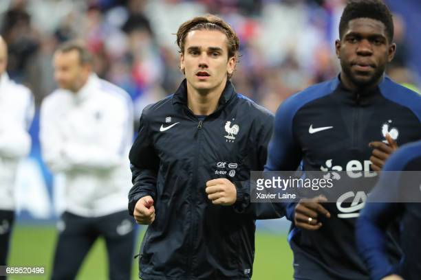 Antoine Griezmann of France pose before the Friendly game between France and Spain at Stade de France on march 28 2017 in Paris France