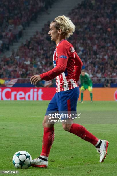 METROPOLITANO MADRID SPAIN Antoine Griezmann with the ball Victory in the last seconds of the game for Chelsea by 1 to 2 Griezmann Morata and...