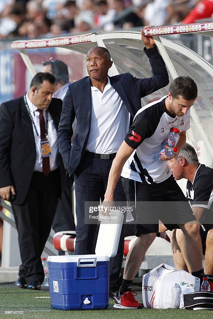 Antoine Kombouare coach of Guingamp during the French Ligue 1 between Nancy and Guingamp at Stade Marcel Picot on August 27 2016 in Nancy France