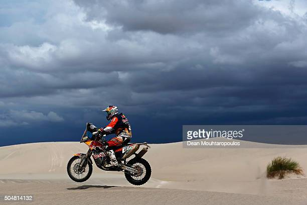 Antoine Meo of France riding on and for KTM 450 RALLY REPLICA RED BULL KTM FACTORY TEAM competes on day 11 stage ten between Belen and La Rioja...