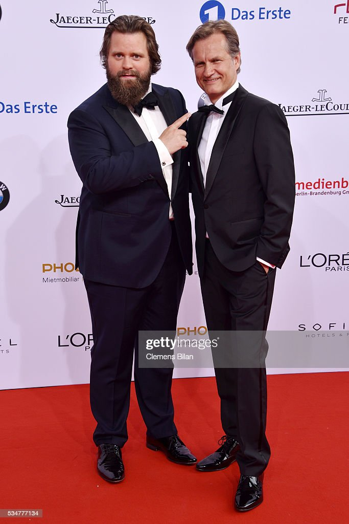 Antoine Monot, Jr. (L) attends the Lola - German Film Award (Deutscher Filmpreis) on May 27, 2016 in Berlin, Germany.