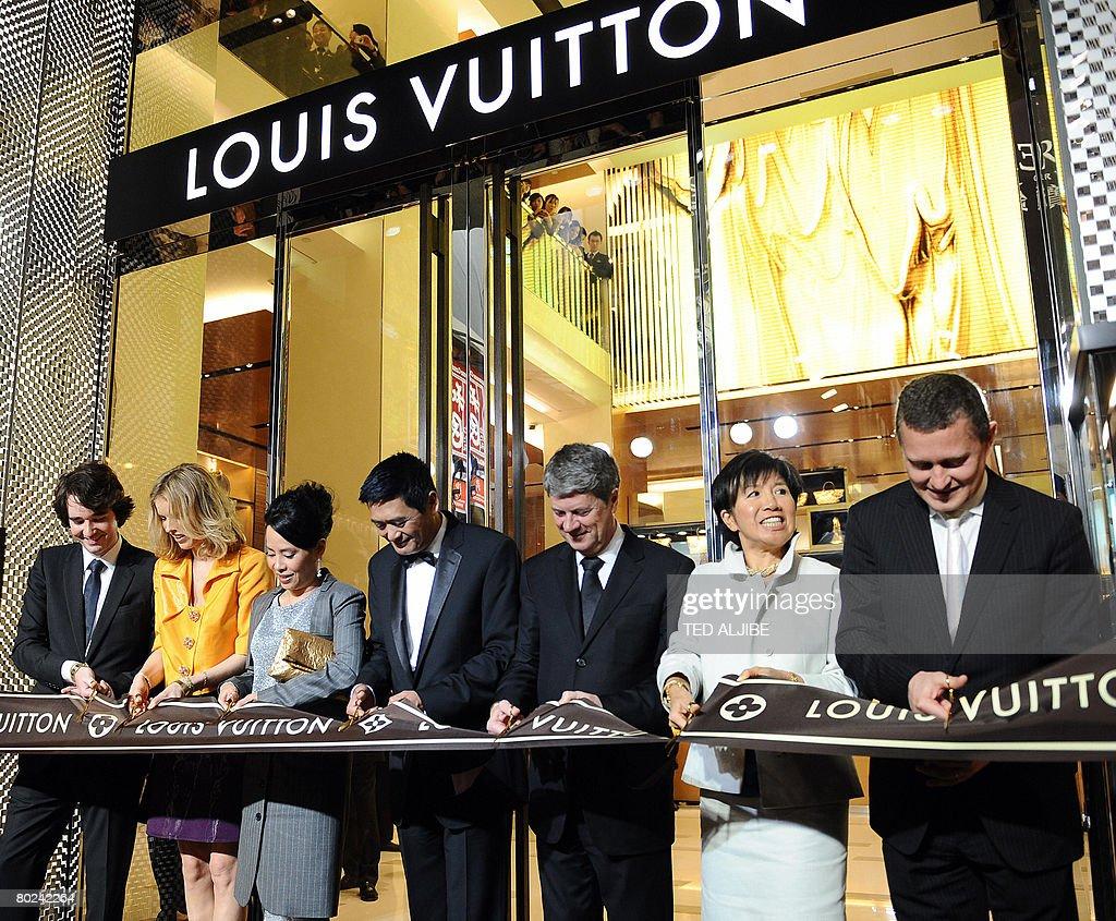 Antoine of Louis Vuitton Czech supermodel Eva Herzigova Jasmine Hong Kong actor Chow Yun Fat Yves Carcelle chairman and CEO of Louis Vuitton Bessie...