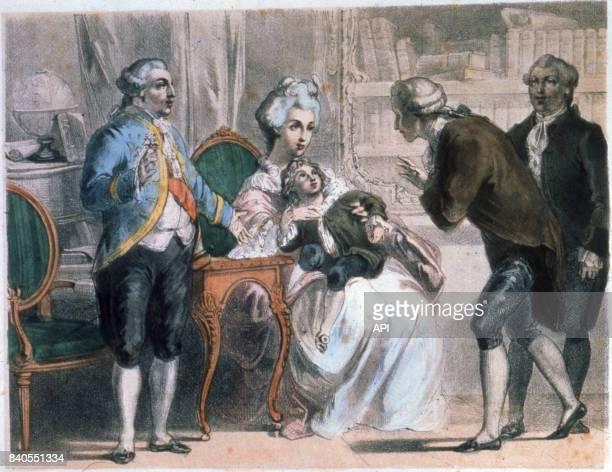 Antoine Parmentier présentant la pomme de terre à Louis XVI et MarieAntoinette