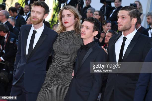 Antoine Reinartz Adele Haenel Arnaud Valois and Nahuel Perez Biscayart attend the screening of '120 Beats Per Minute' in competition at the 70th...