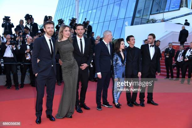 Antoine Reinartz Adele Haenel Arnaud Valois director Robin Campillo Aloise Sauvage Felix Maritaud and Nahuel Perez Biscayart attend the screening of...