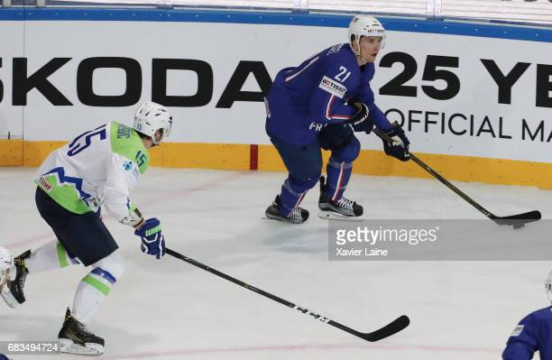 Antoine Roussel of France during the 2017 IIHF Ice Hockey World Championship game between France and Slovenia at AccorHotels Arena on May 15 2017 in...