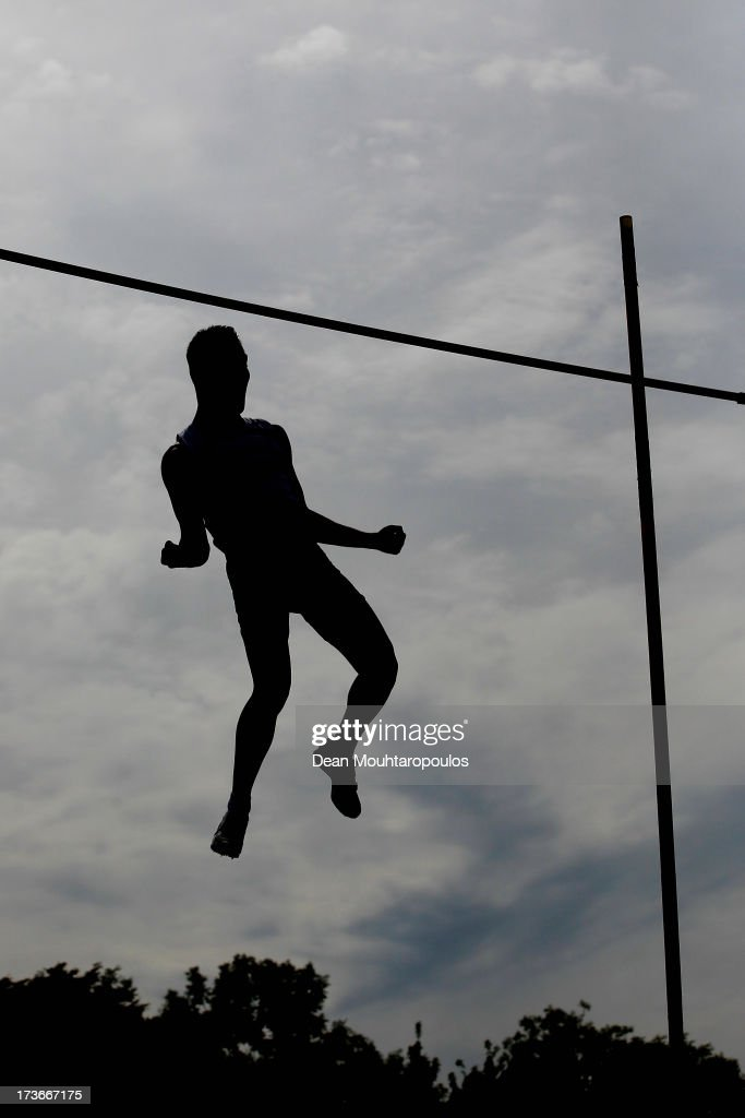 Antoine Taillandier of France competes in the Boys Pole Vault Final during the European Youth Olympic Festival held at the Athletics Track Maarschalkersweerd on July 16, 2013 in Utrecht, Netherlands.