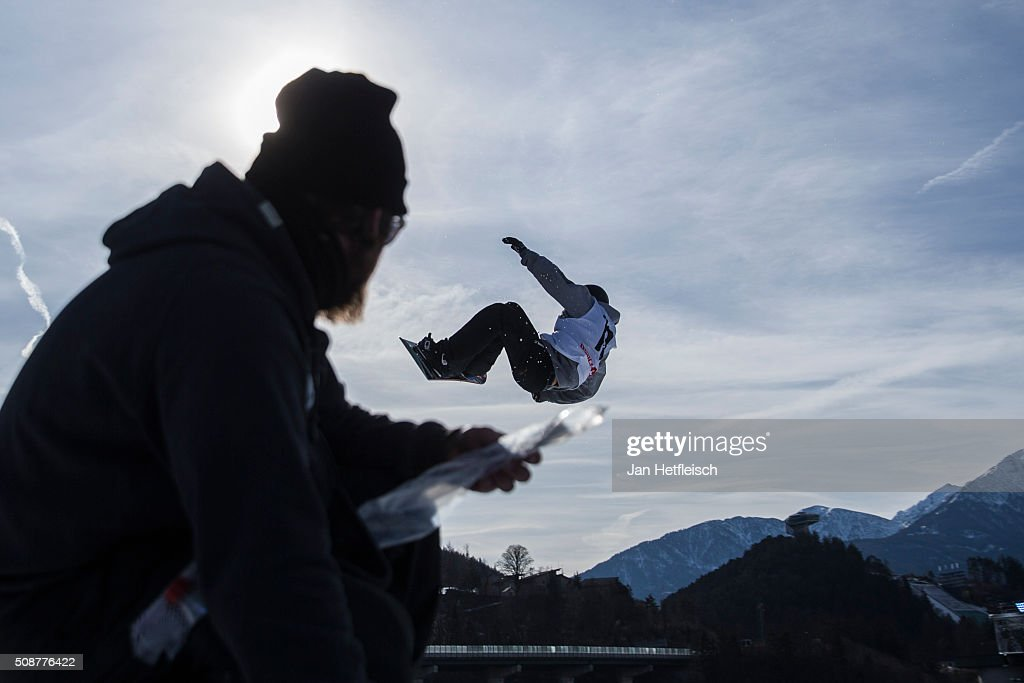 Antoine Truchon from Canada jumps during the Air and Style Festival in Innsbruck on the February 6, 2016 in Innbuck, Austria,