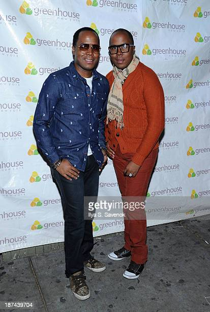 Antoine Von Boozier and Andre Von Boozier attend 'Americas Next Top Model Boys vs Girls' Cycle 20 Season Finale Party at Greenhouse on November 8...