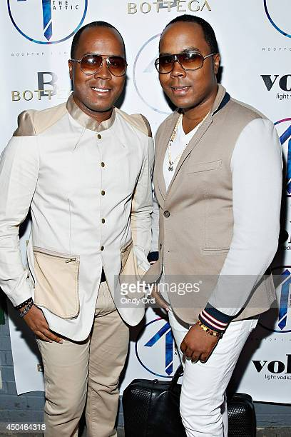 Antoine Von Boozier and Andre Von Boozier attend the grand opening of The Attic Rooftop Lounge on June 11 2014 in New York City