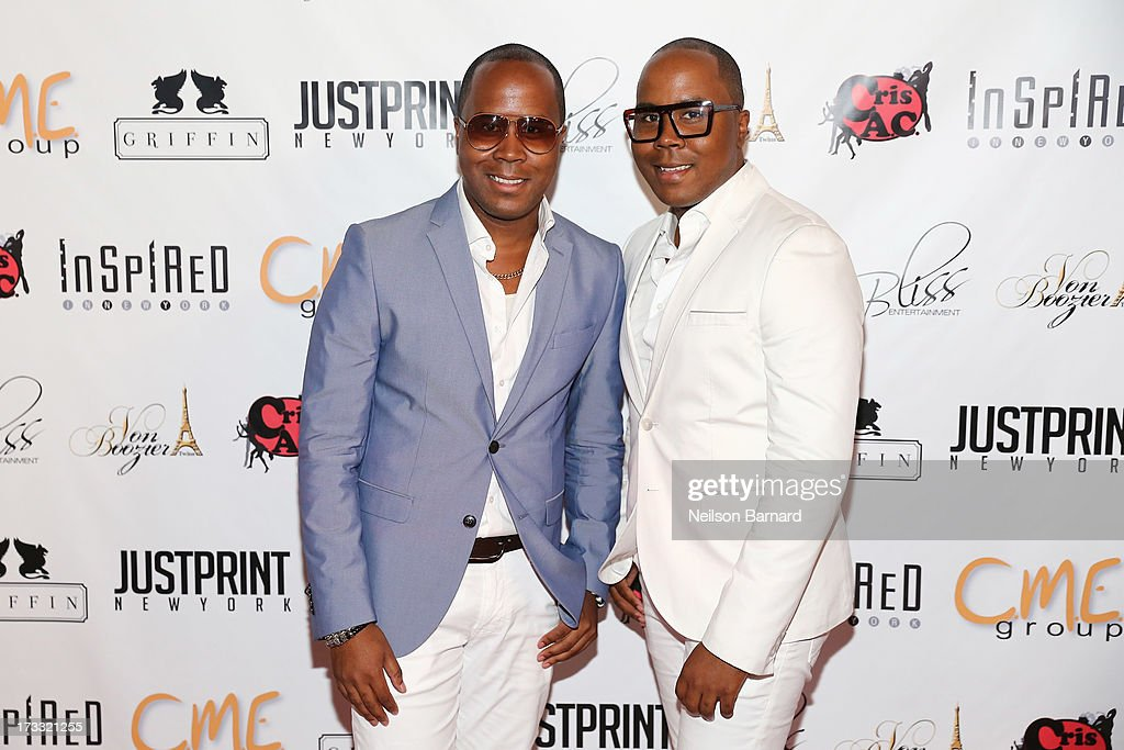 Antoine Von Boozier (L) and Andre Von Boozier attend the 'Inspired In New York' Event on July 11, 2013 in New York, United States.