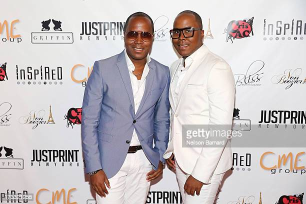 Antoine Von Boozier and Andre Von Boozier attend the 'Inspired In New York' Event on July 11 2013 in New York United States