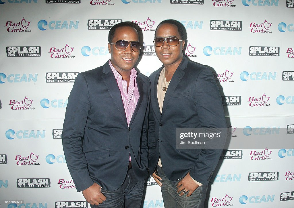 Antoine Von Boozier and Andre Von Boozier attends 'Bad Girls Club' Season 8 Premiere party at Splash NYC on January 25, 2012 in New York City.