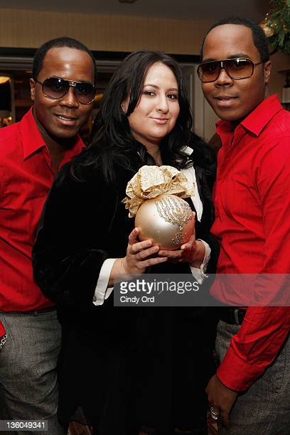 Antoine Von BoozierVeronica Lee Anne and Andre Von Boozier attend as Natalie Sarabella films a tv Christmas special at Bergdorf Goodman on December...