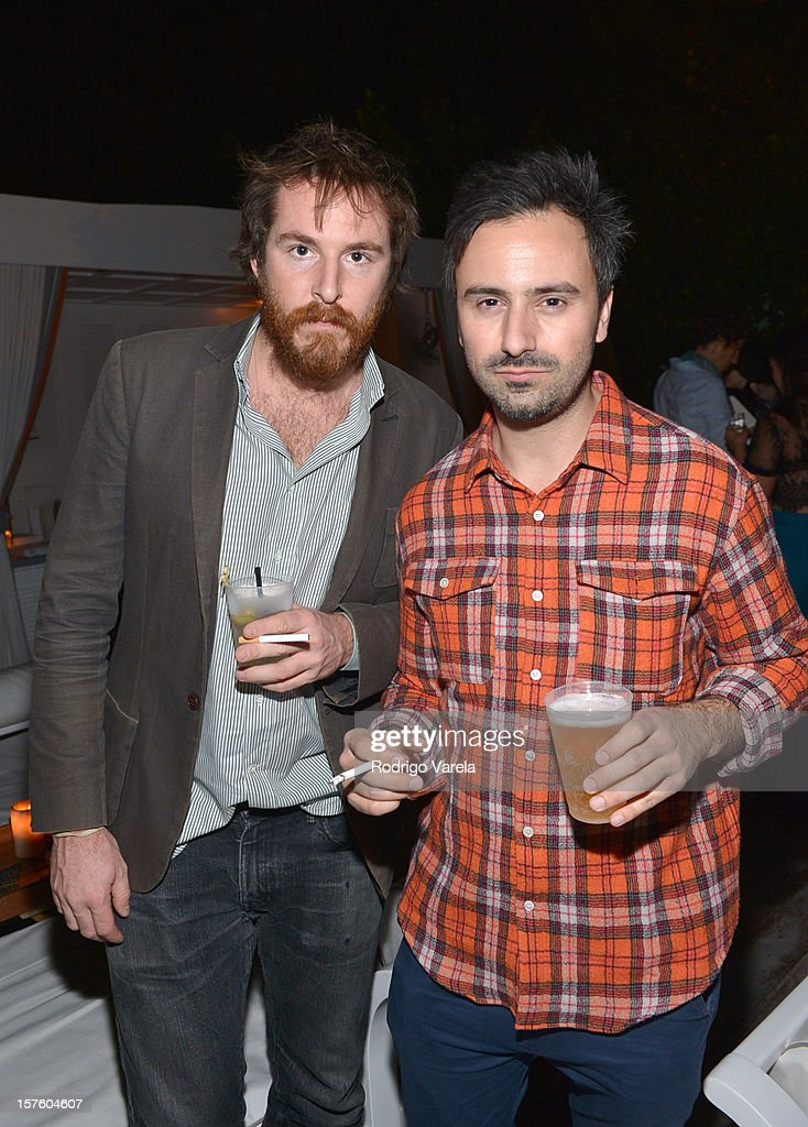 Antoine Wagner and Julien David attend the Whitewall Magazine Party At Delano Beach Club at Delano Beach Club on December 4, 2012 in Miami Beach, Florida.