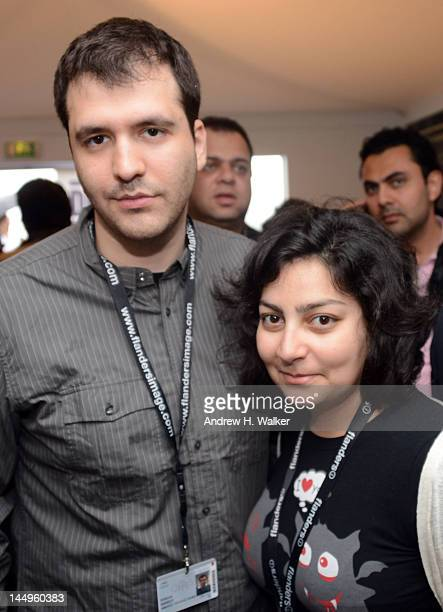 Antoine Waked and Myriam Sassine attend the Doha Film Institute's MENA Networking Reception during the 65th Annual Cannes Film Festival at the DFI...